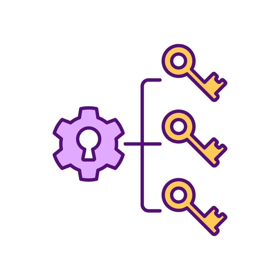 brainstormen strategie RGB-kleur pictogram vector