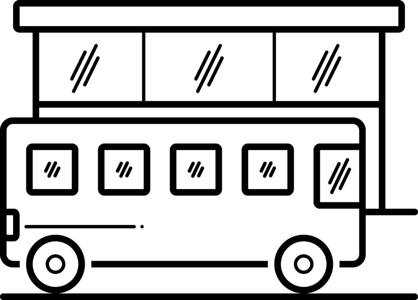 lijn pictogram voor bus vector
