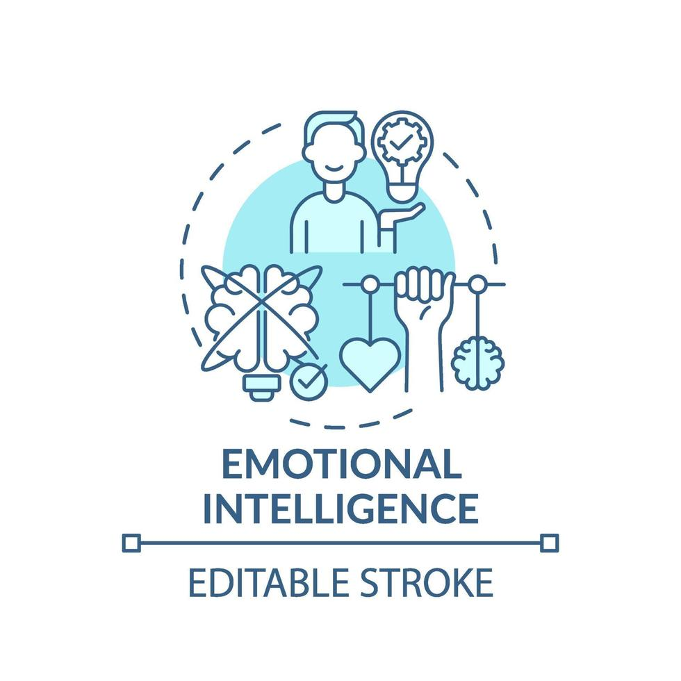 emotionele intelligentie turkoois concept pictogram vector