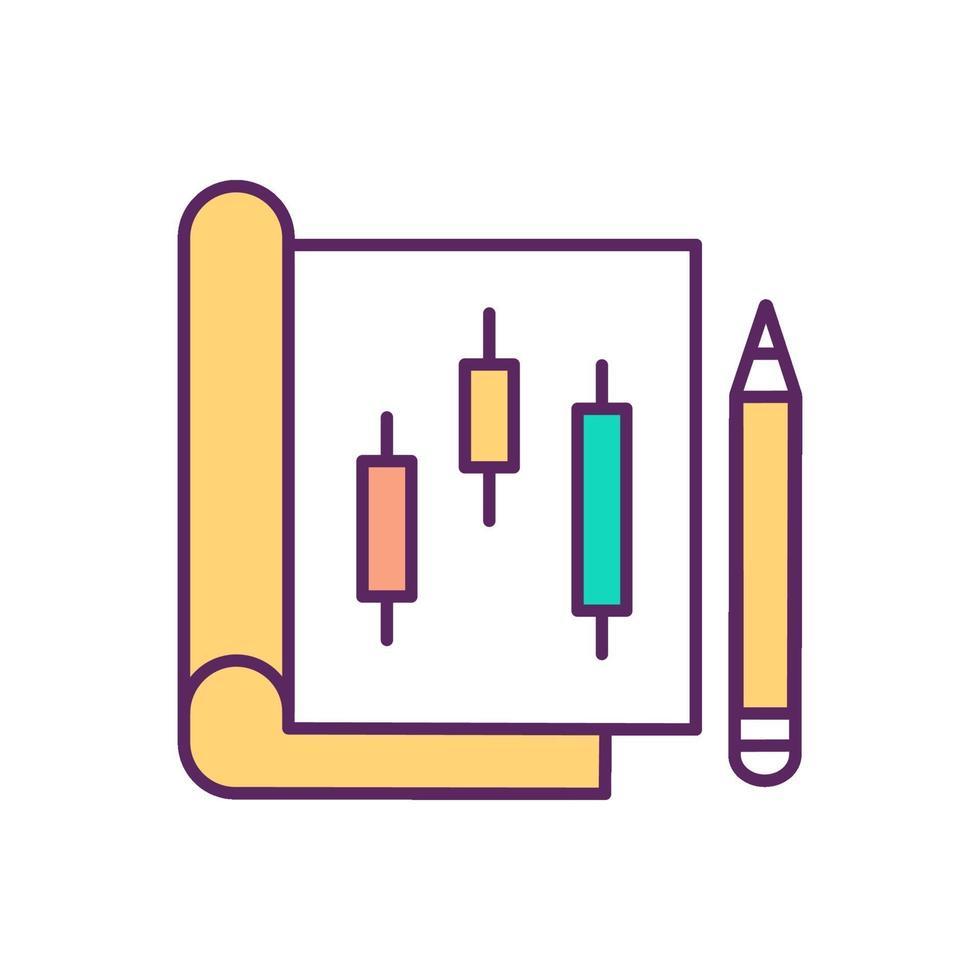 papier handel RGB-kleur pictogram vector