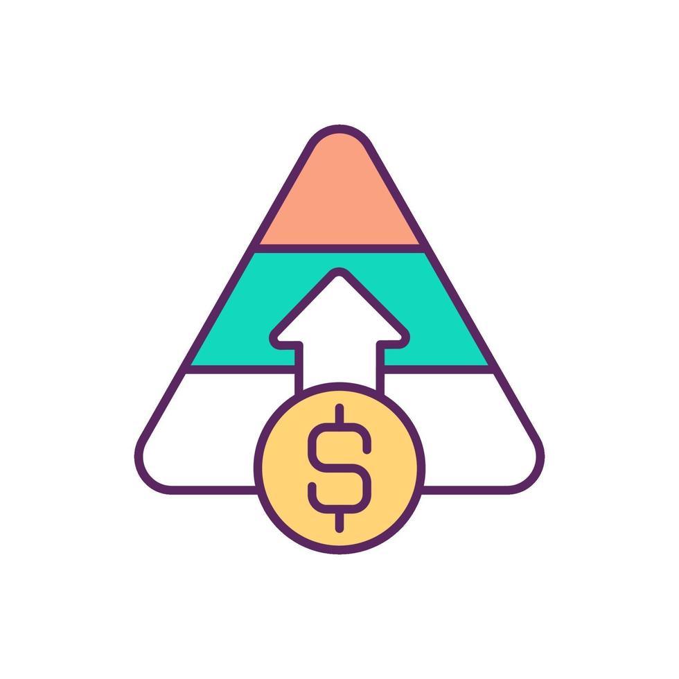 kapitaalverhoging rgb kleur pictogram vector