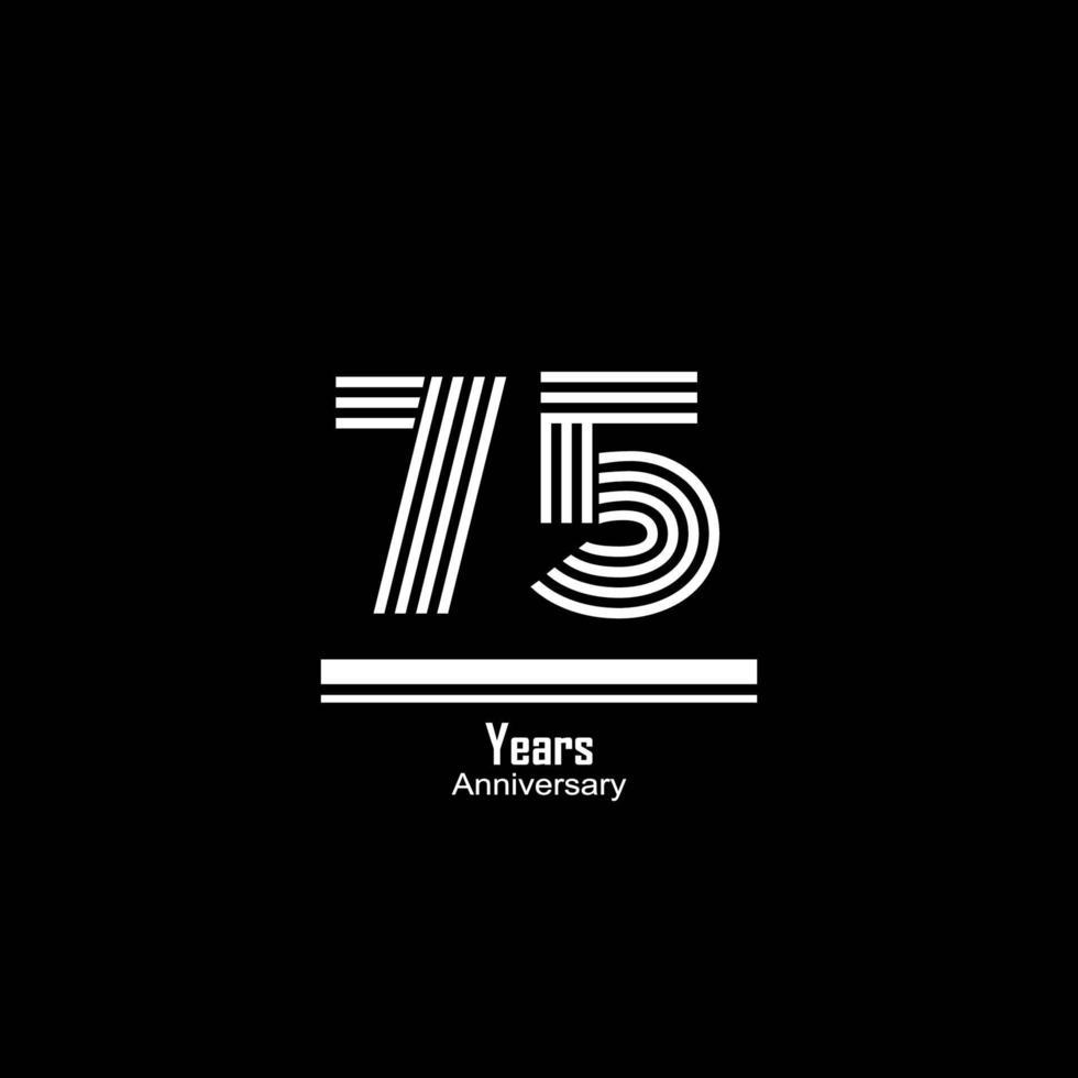 75-jarig jubileum vector sjabloon ontwerp illustratie
