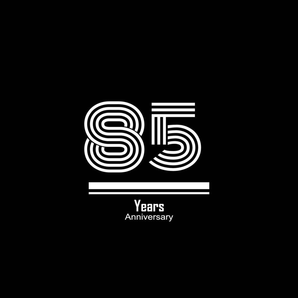 85 jaar jubileum viering vector sjabloon ontwerp illustratie
