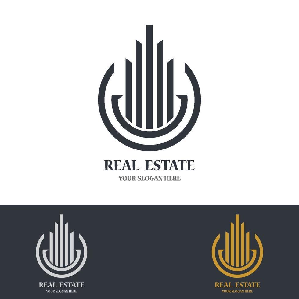 onroerend goed logo afbeeldingen vector