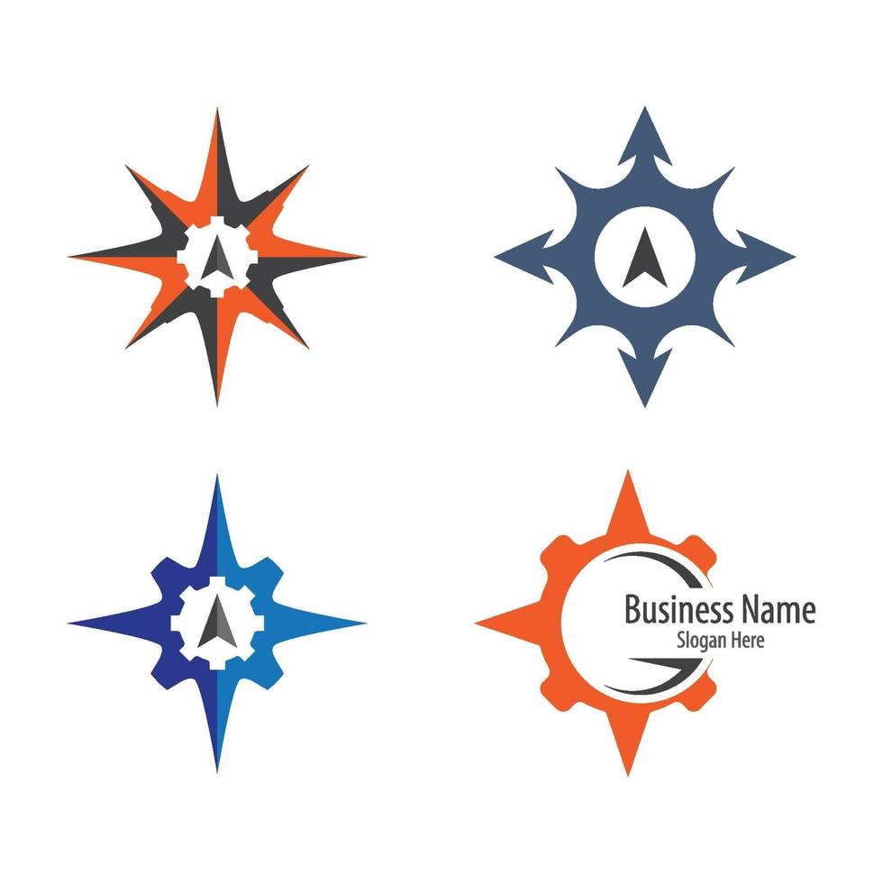kompas logo afbeeldingen vector