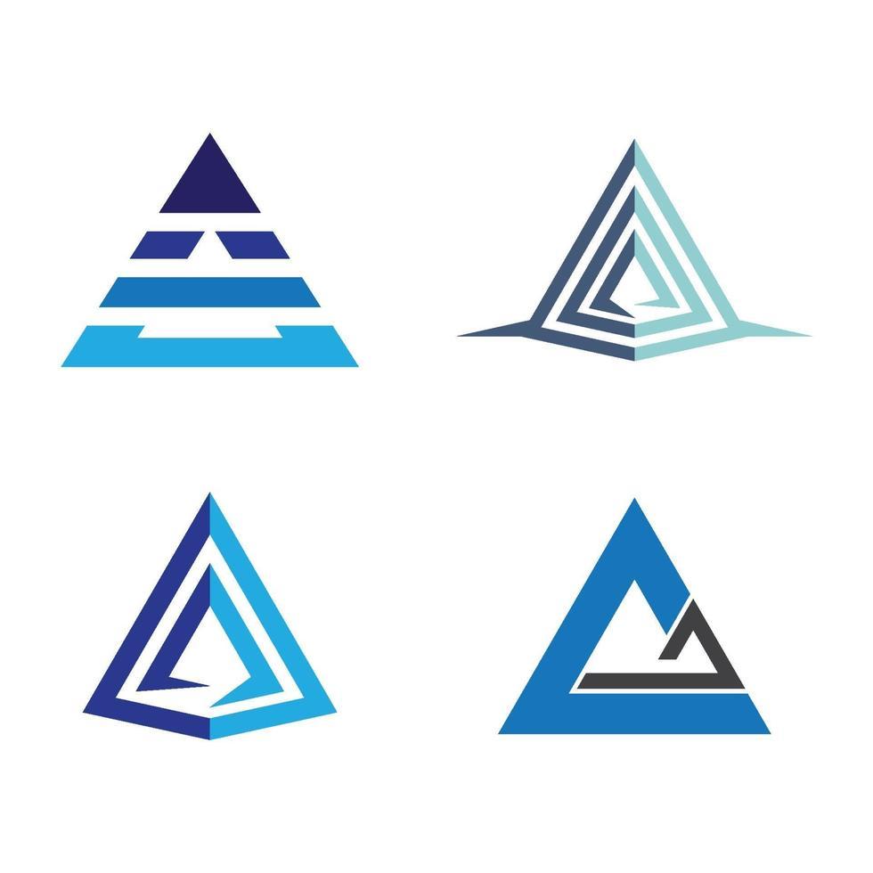 piramide logo afbeeldingen illustratie vector