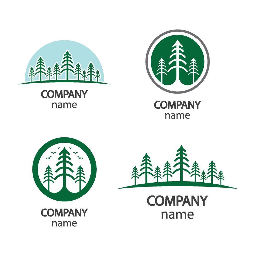 dennenboom logo afbeeldingen illustratie vector