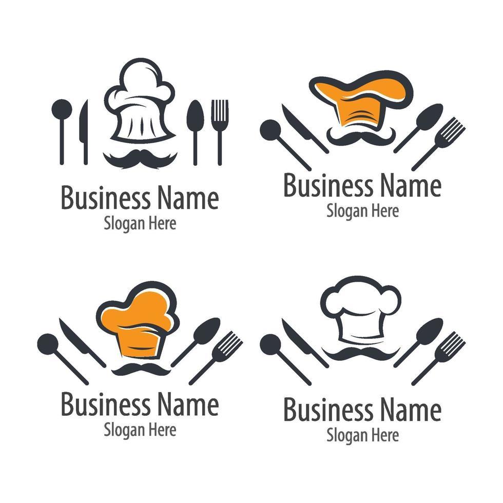 chef-kok logo afbeeldingen vector