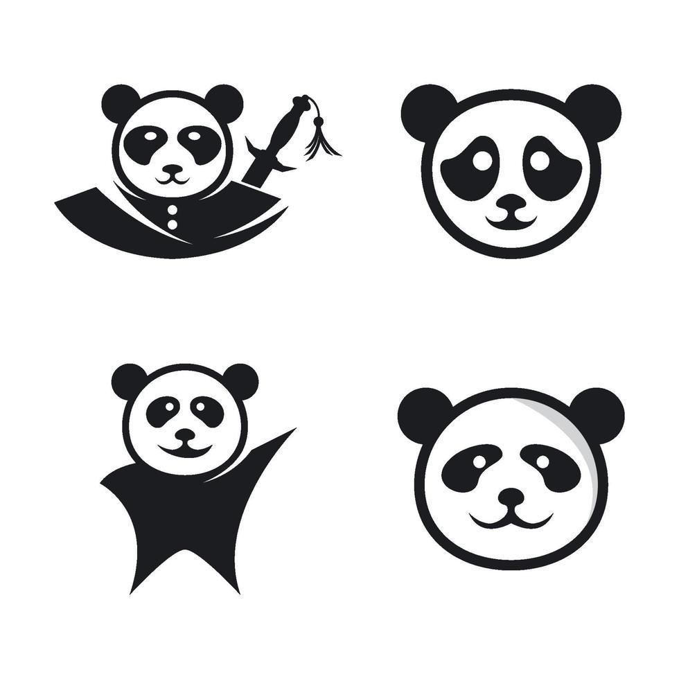 panda logo afbeeldingen illustratie vector
