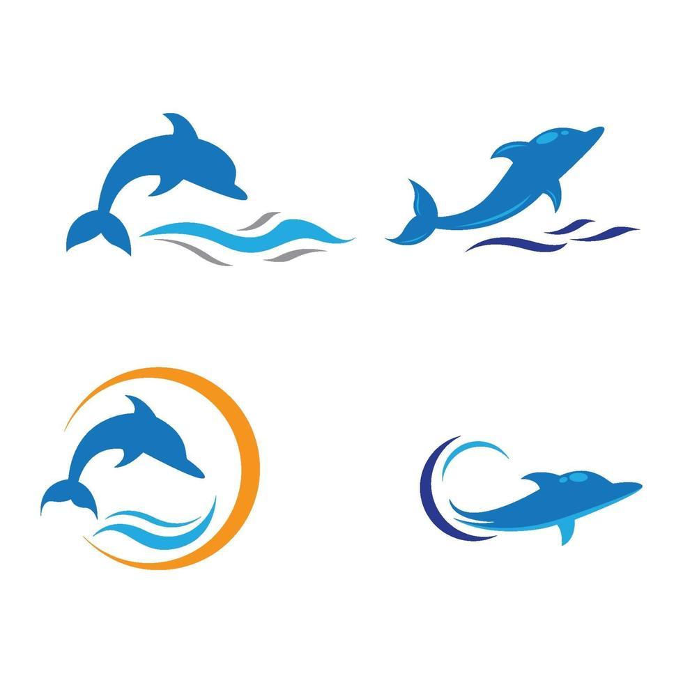 dolfijn logo afbeeldingen vector