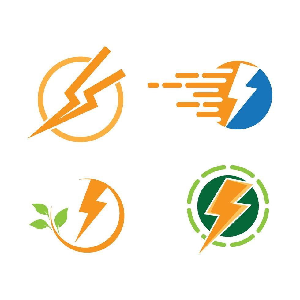 bliksem logo afbeeldingen vector
