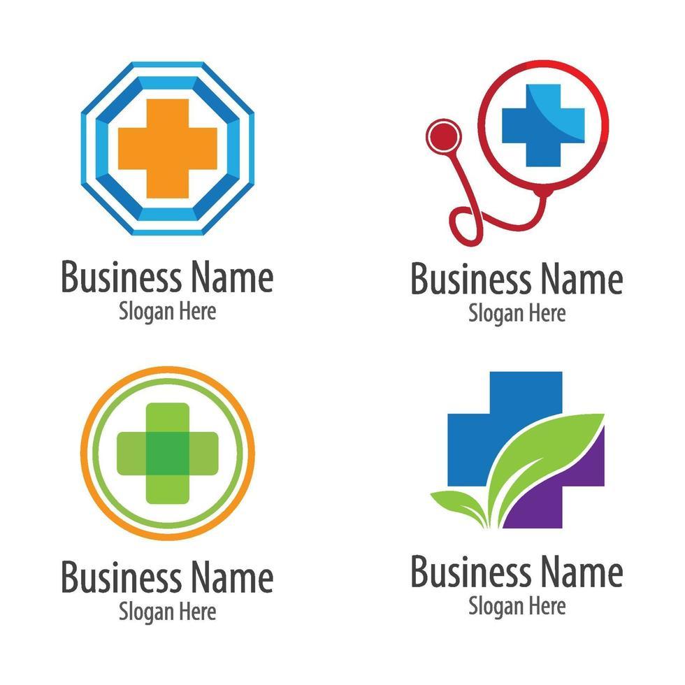 medische zorg logo afbeeldingen vector