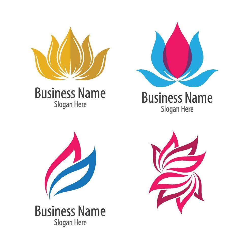 schoonheid lotus logo afbeeldingen vector