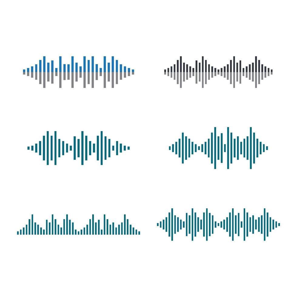 geluidsgolfbeelden vector