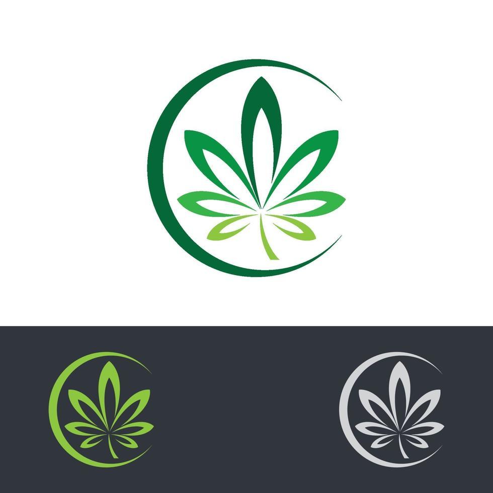 cannabis logo afbeeldingen illustratie vector