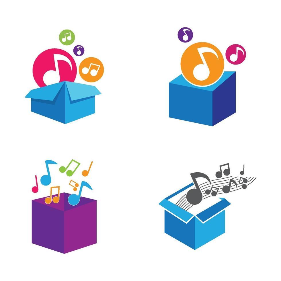 muziekdoos logo afbeeldingen illustratie vector