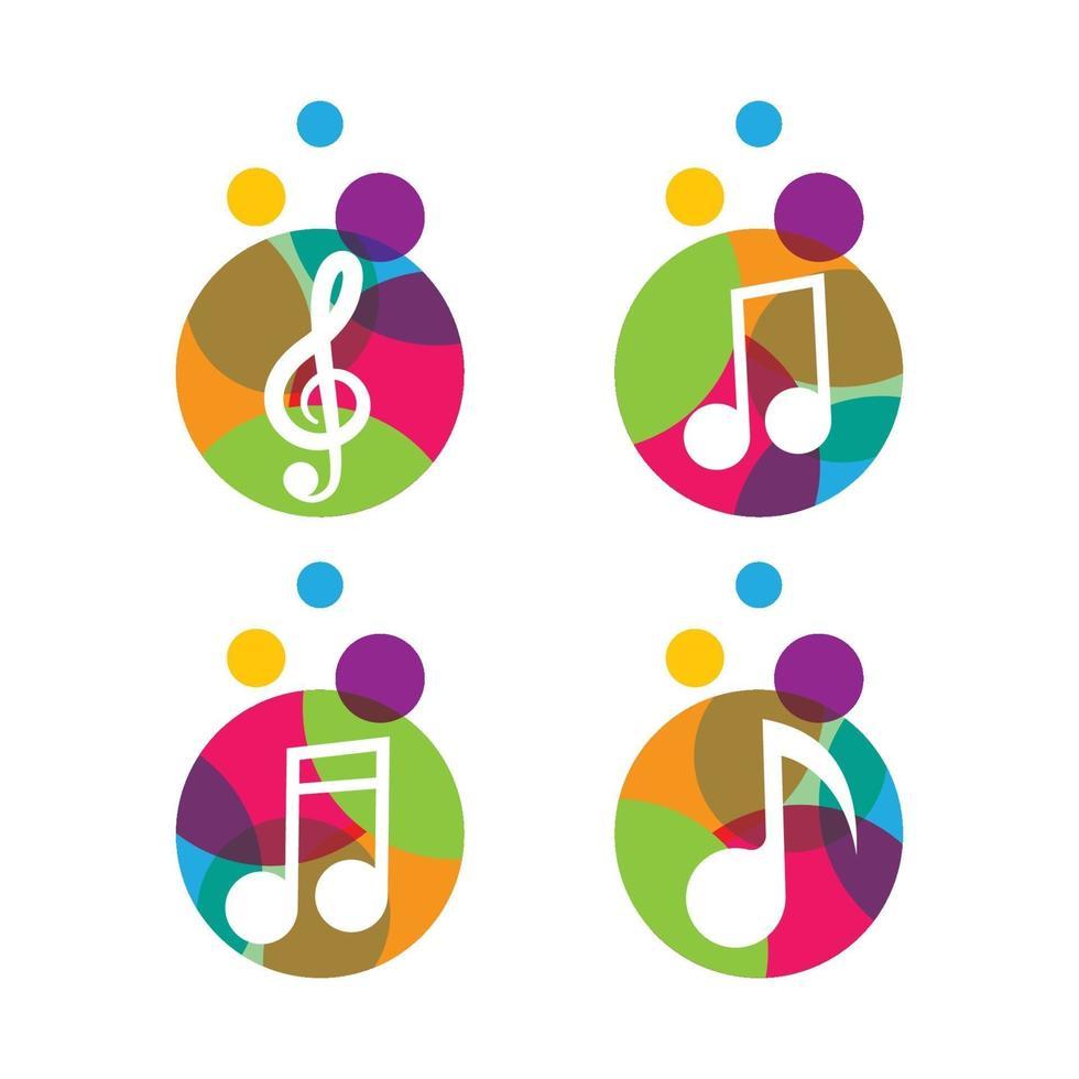 muziek logo afbeeldingen vector