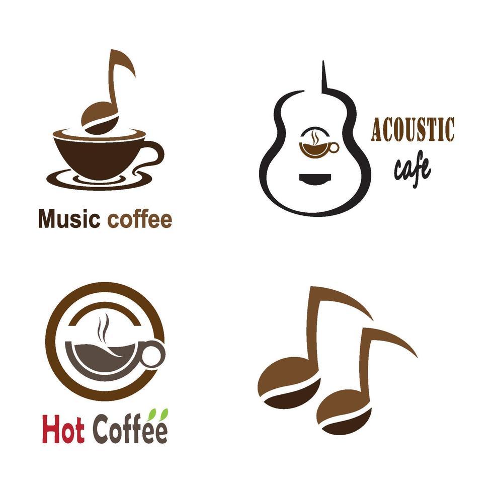 muziek koffie logo afbeeldingen vector