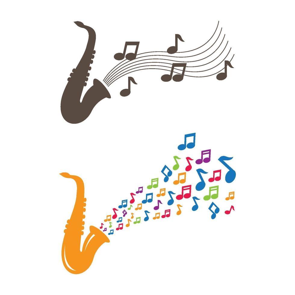 jazz muziek logo afbeeldingen illustratie vector