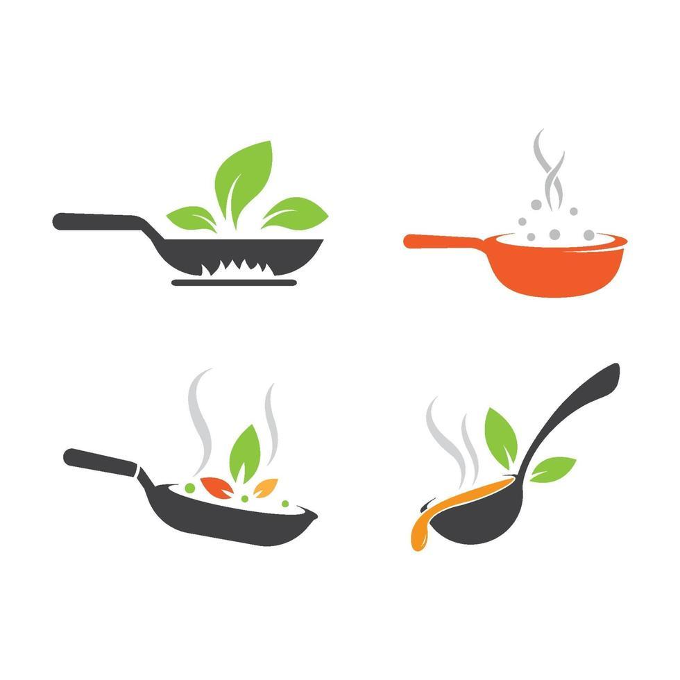 logo-afbeeldingen voor vegetarisch eten vector
