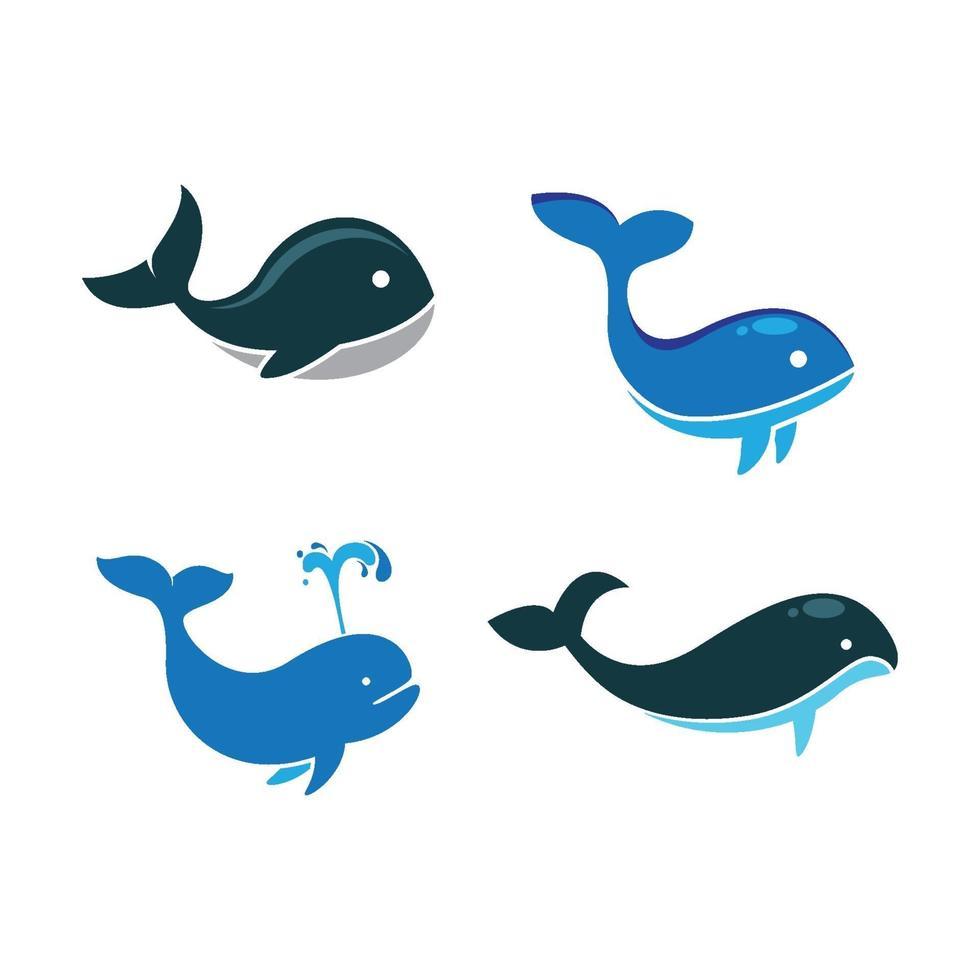 walvis logo afbeeldingen illustratie vector