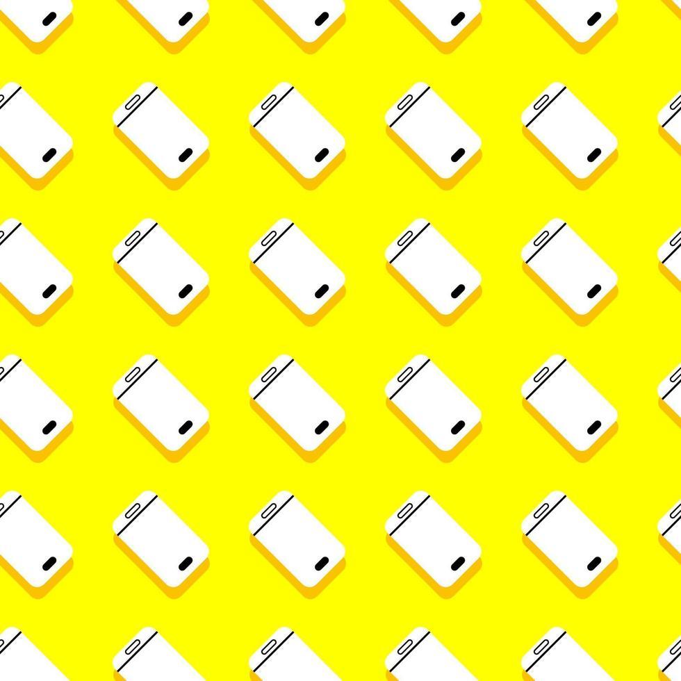 naadloze achtergrondpatroon smartphone. mobiel apparaat. vector illustreren.