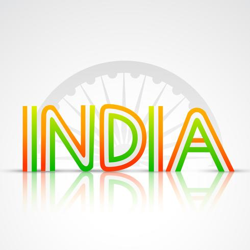 Indiase vlag tekst vector
