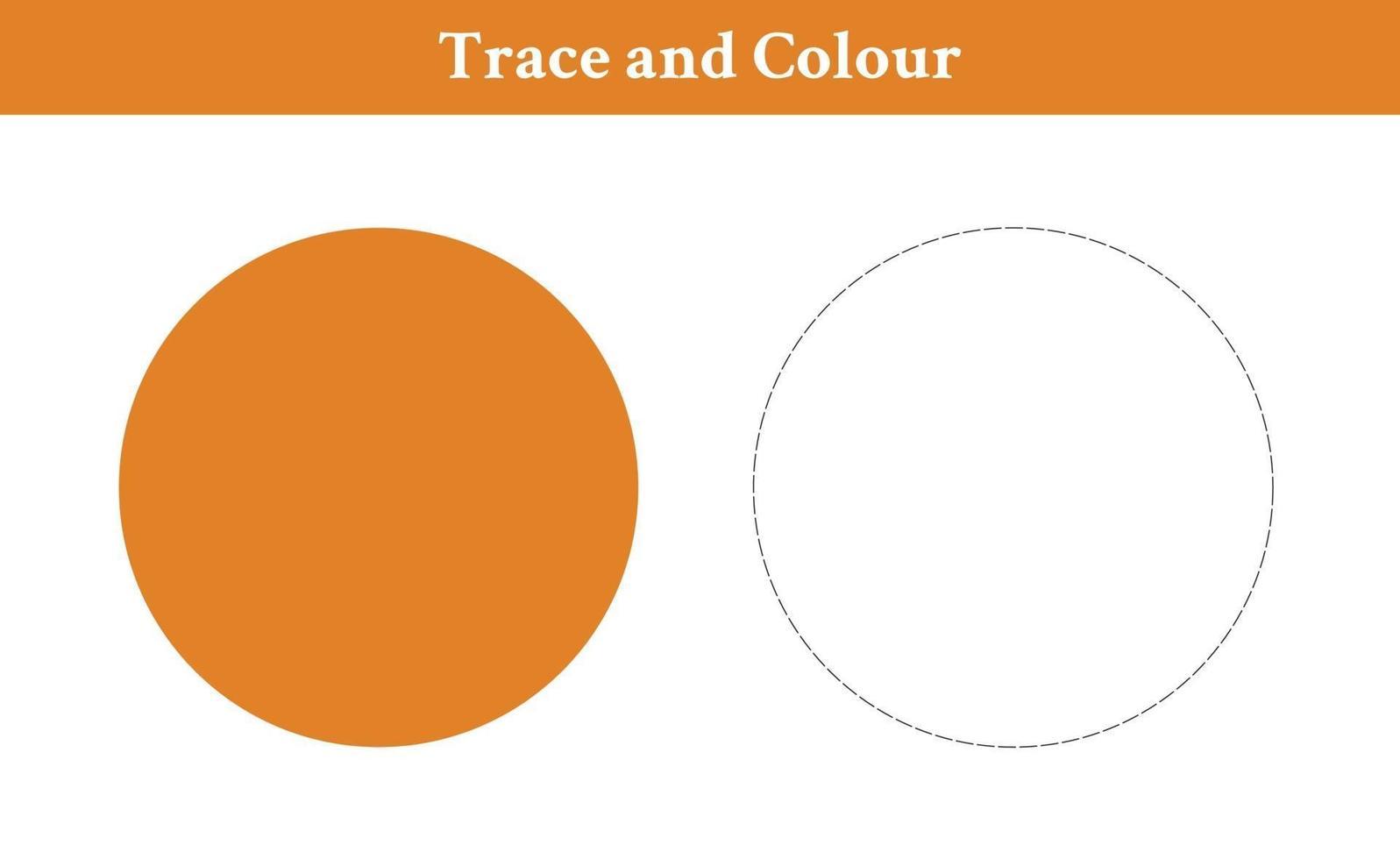 trace en kleur cirkel vrije vector