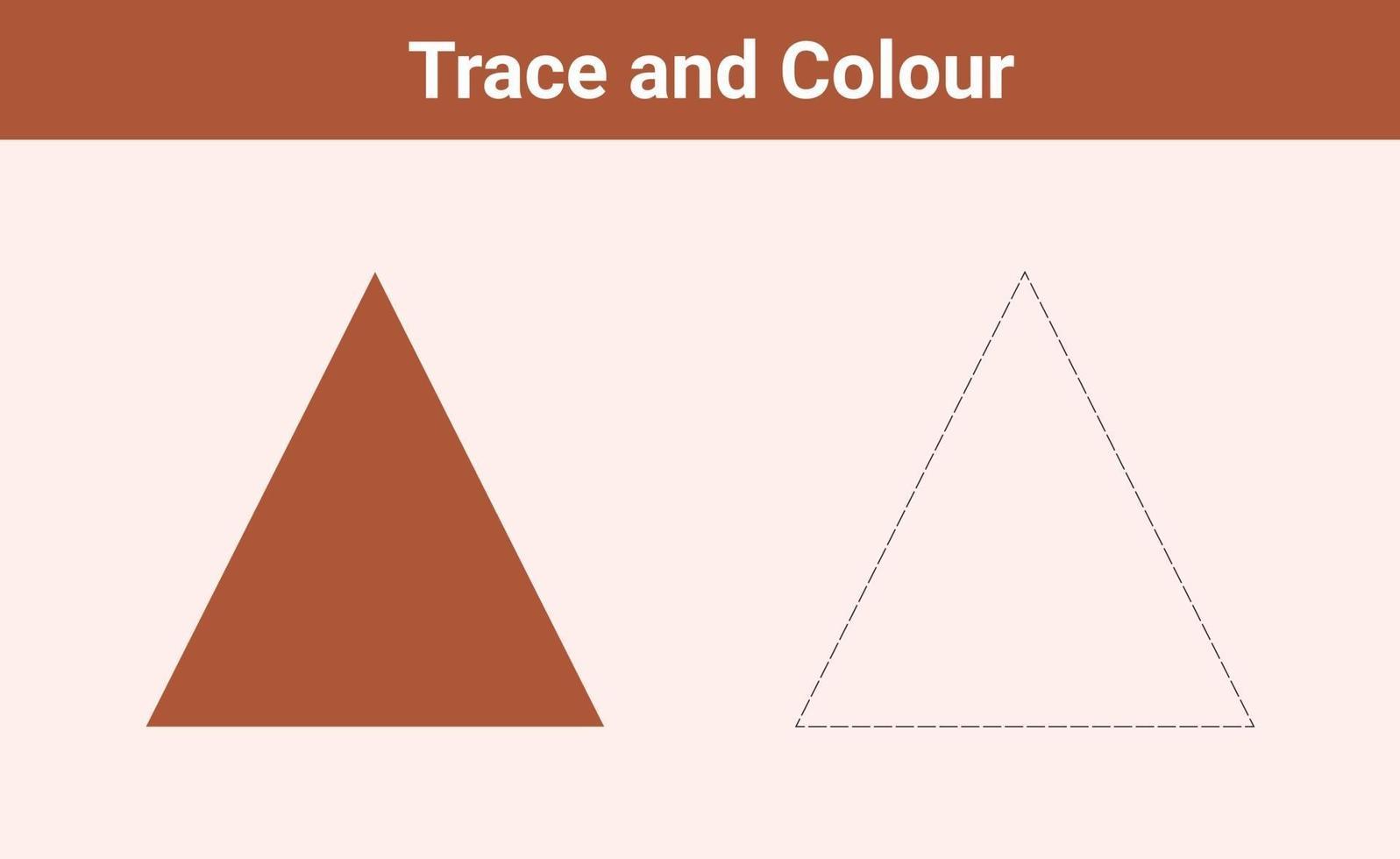 trace en kleur driehoek gratis vector
