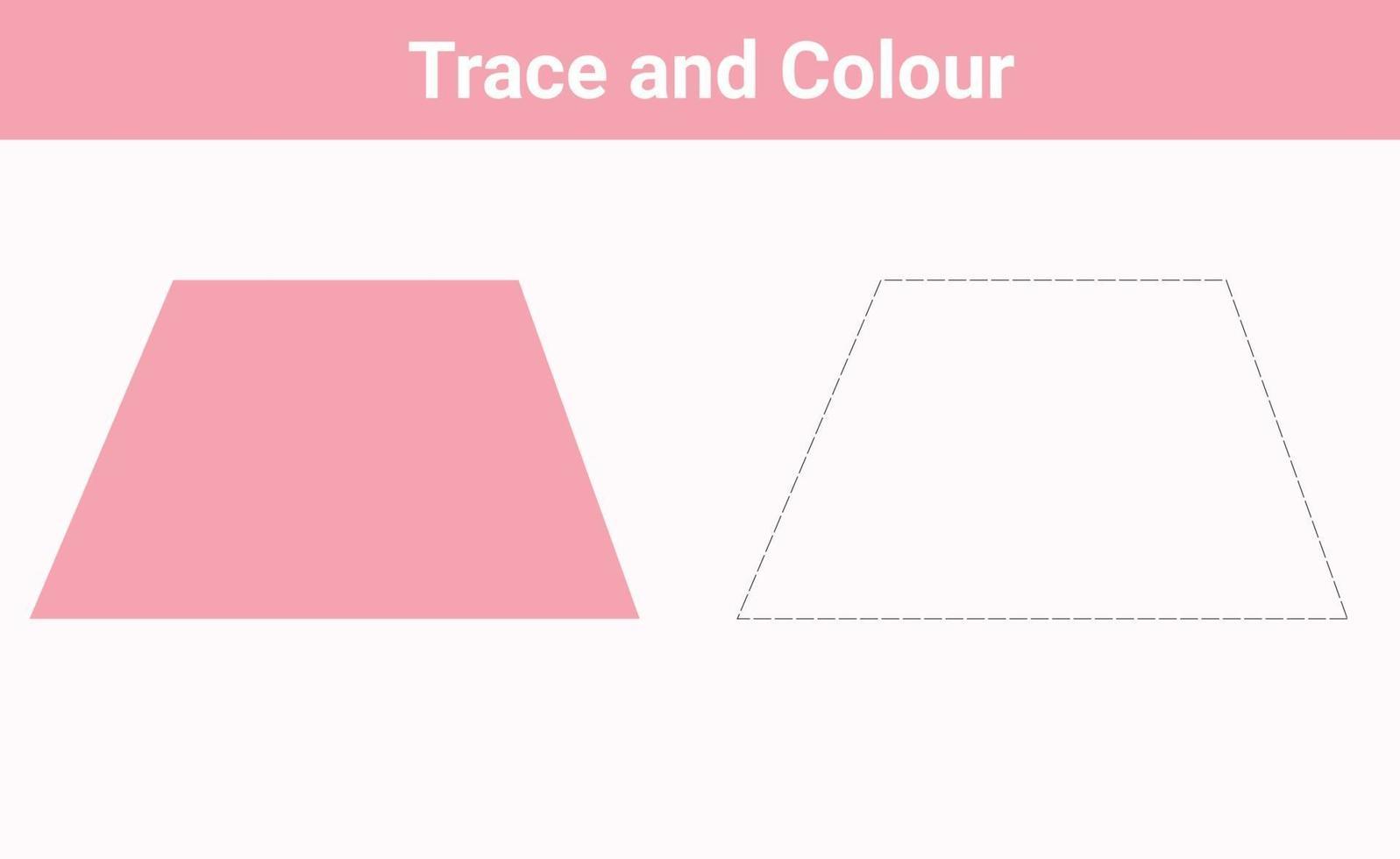 trace en kleur trapezoïde vrije vector