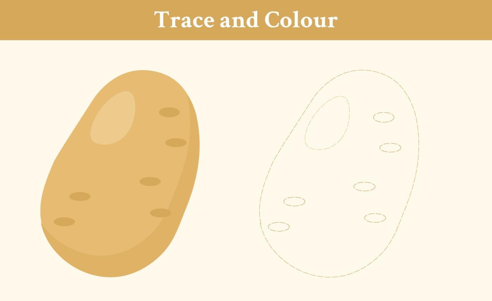 traceer en kleur aardappelvrije vector