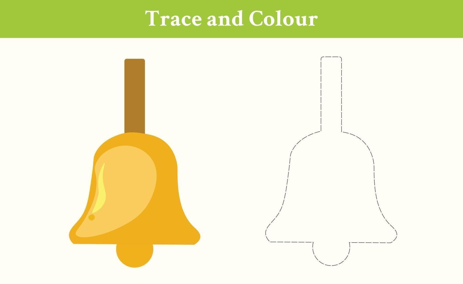trace en kleur bel gratis vector