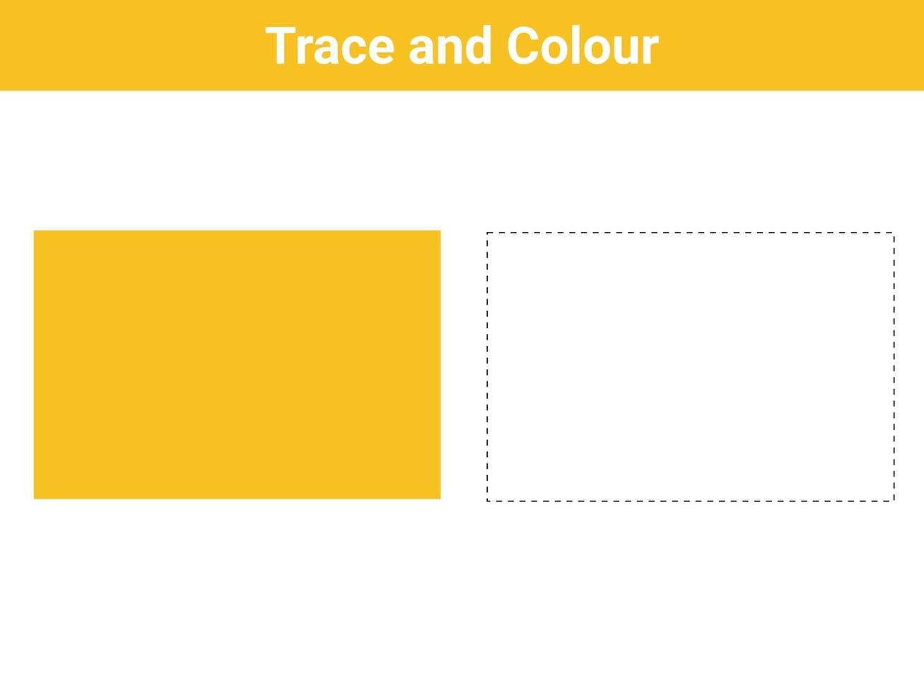 trace en kleur vierkante gratis vector
