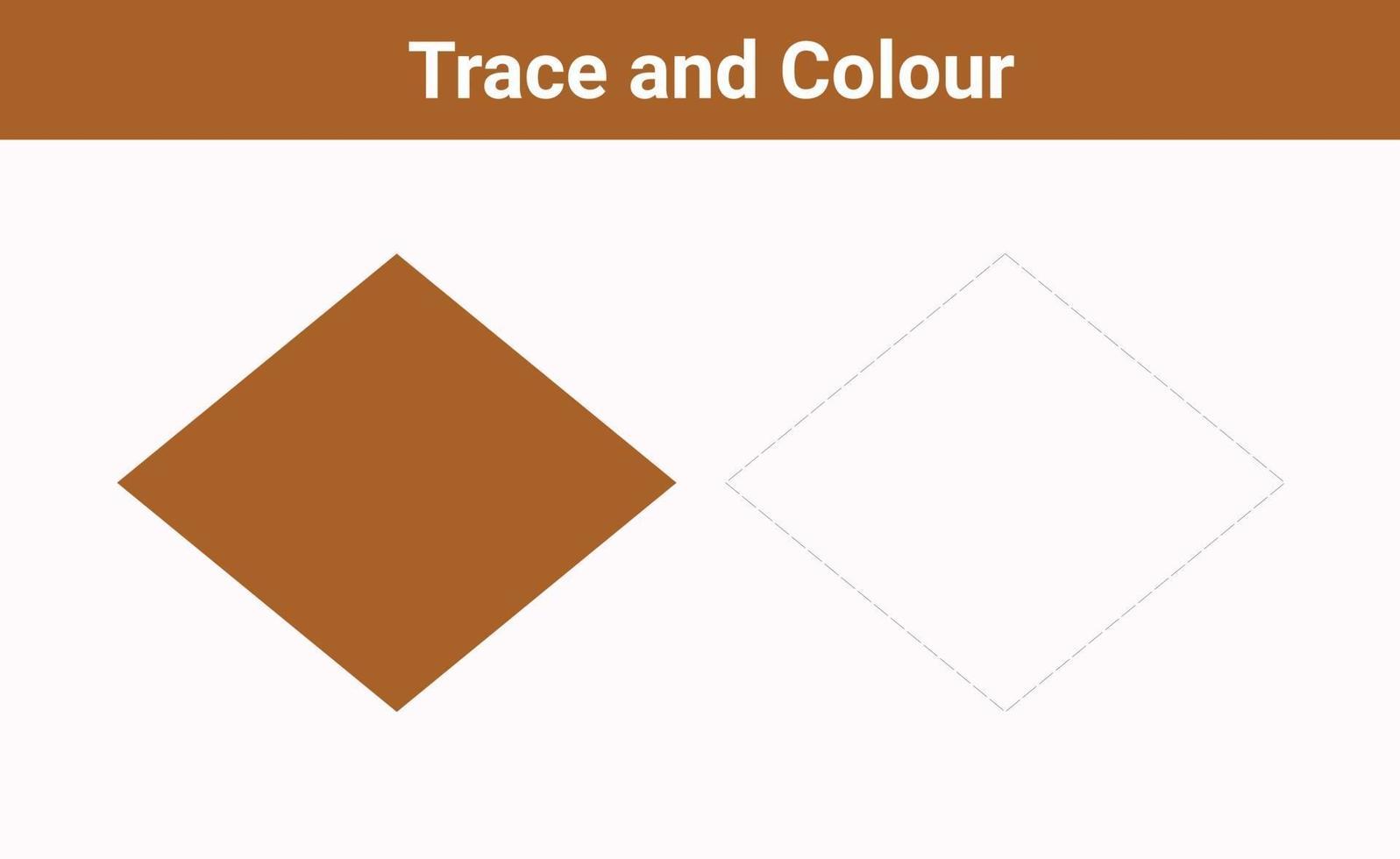 trace en kleur ruitvrije vector