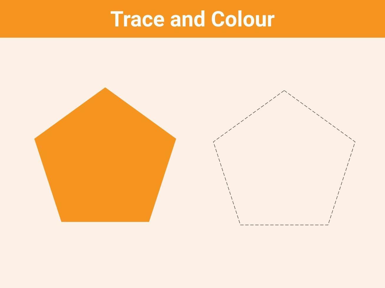 trace en kleur pentagon gratis vector