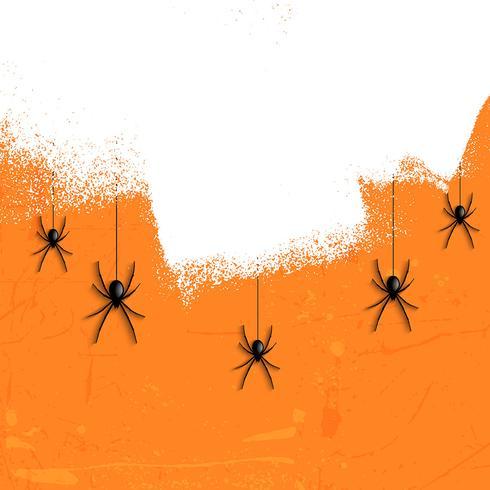 Grunge halloween spinnen vector