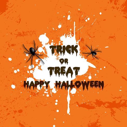 Grunge Halloween-spiderachtergrond vector