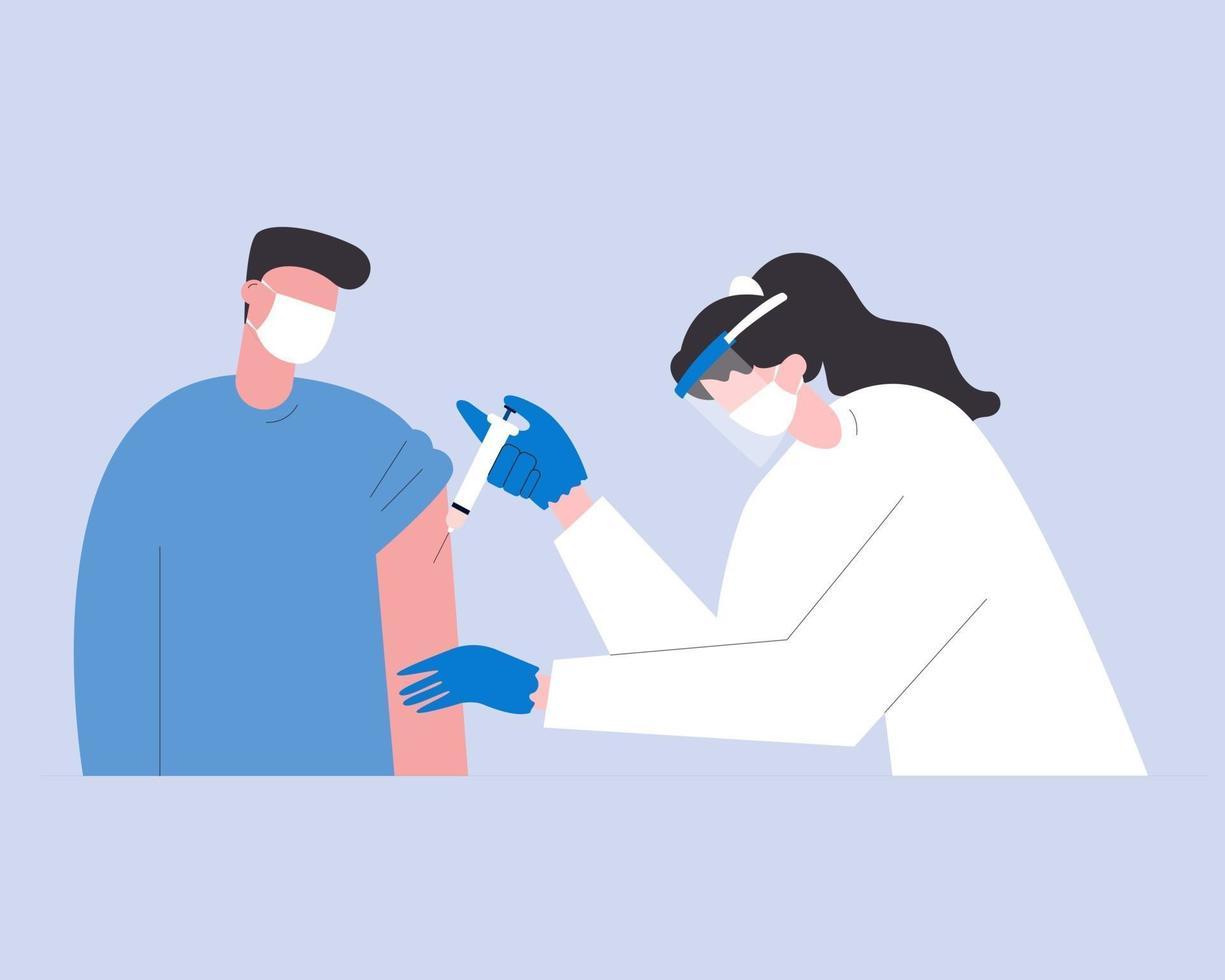 antivirale vaccinatie concept illustratie voor medische inhoud vector