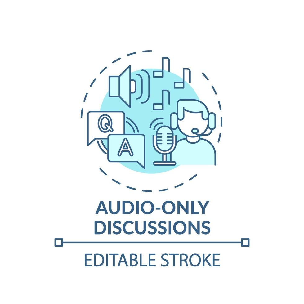audio-alleen discussies concept pictogram vector