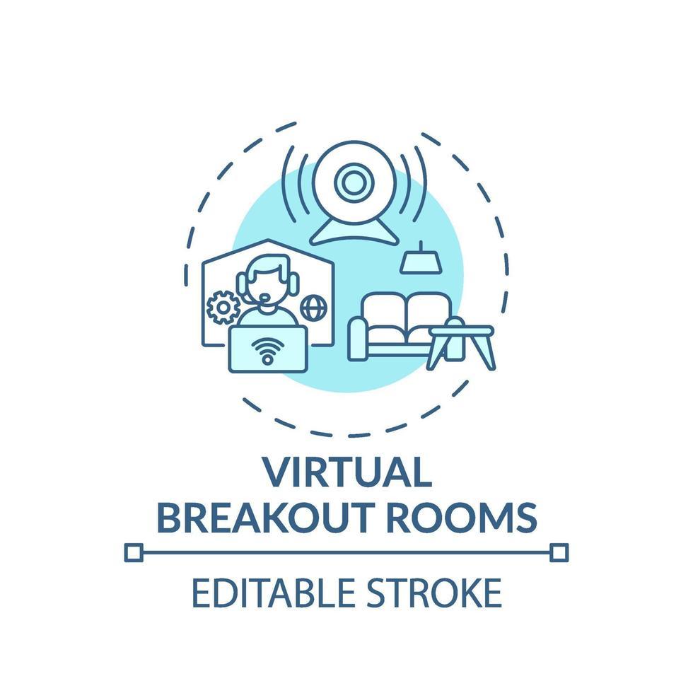 virtuele breakout rooms concept pictogram vector
