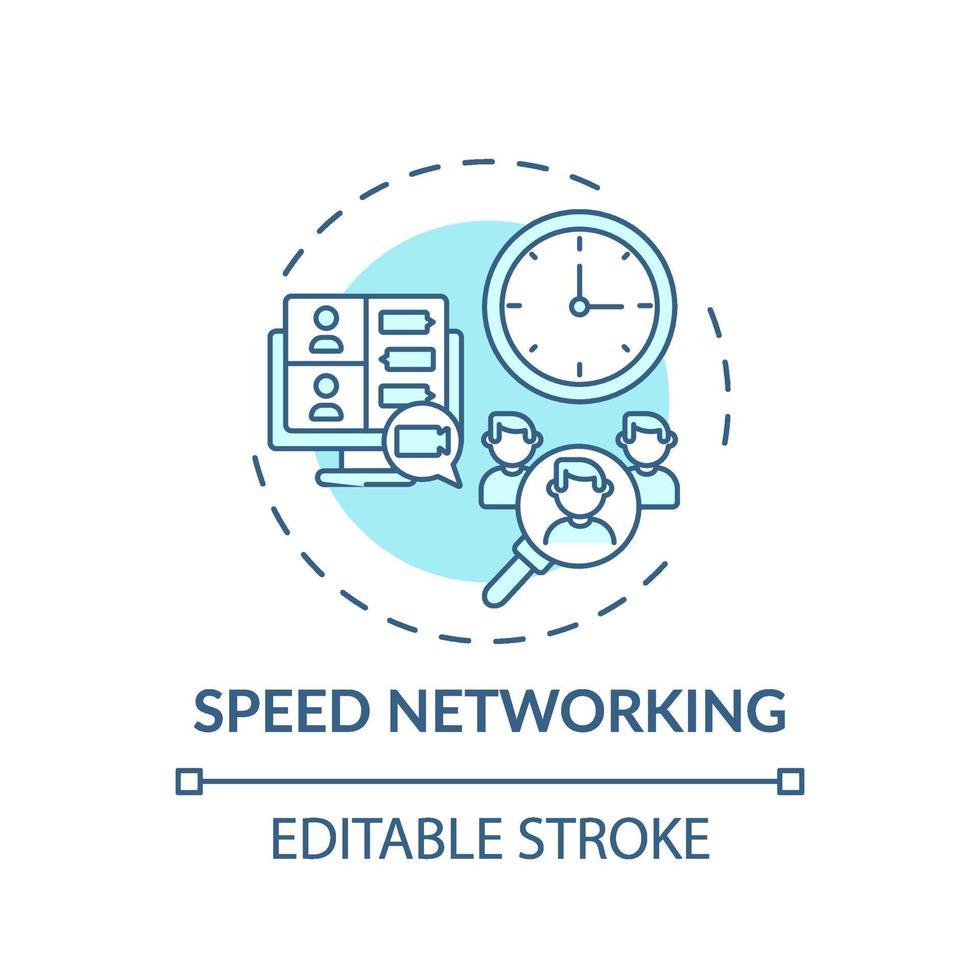 snelheid netwerken concept pictogram vector