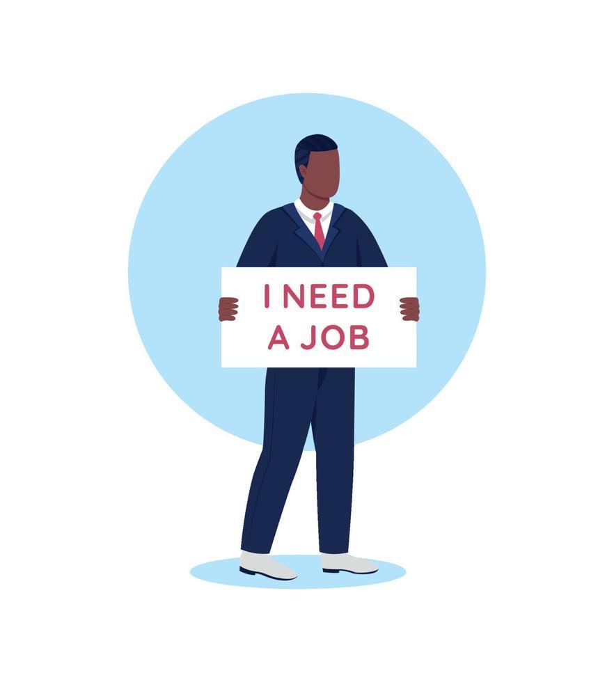 probleem met werkgelegenheid platte concept vectorillustratie vector