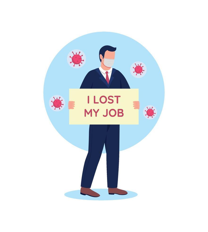 werkloosheidsprobleem tijdens pandemie uitbraak platte concept vectorillustratie vector
