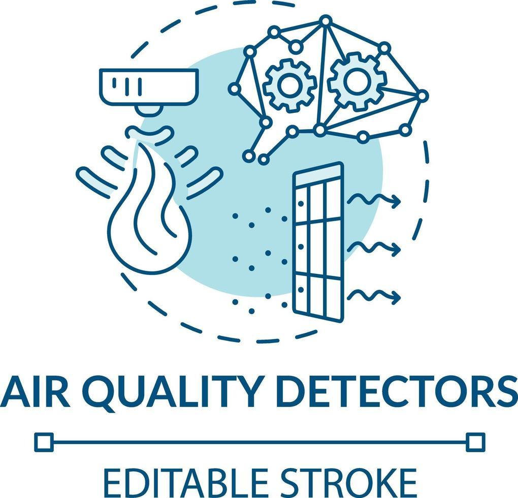 luchtkwaliteit detectoren concept pictogram vector