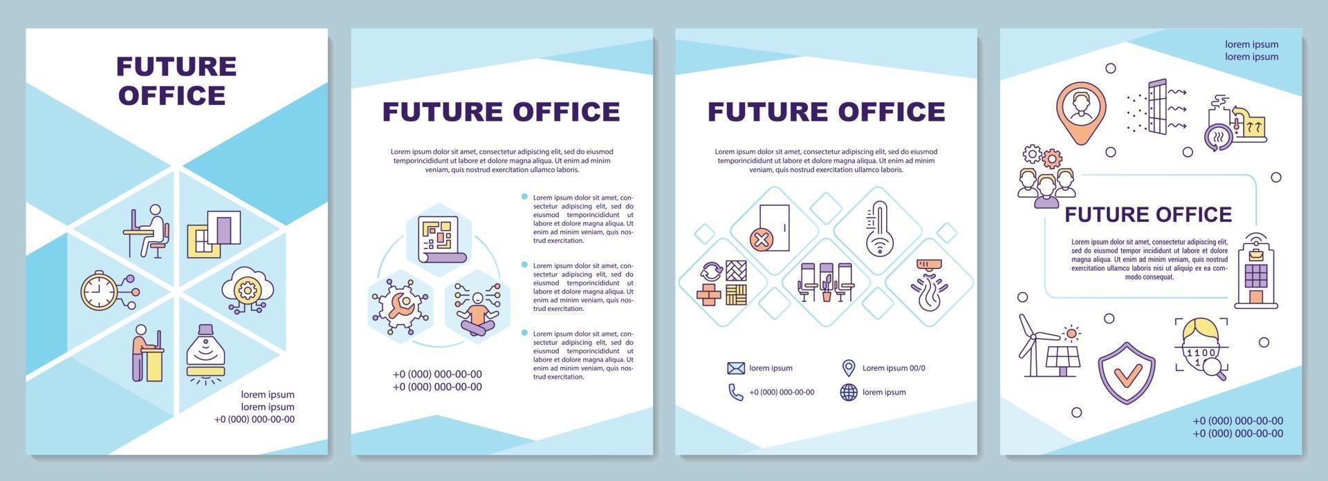 toekomstige kantoorbrochuremalplaatje vector