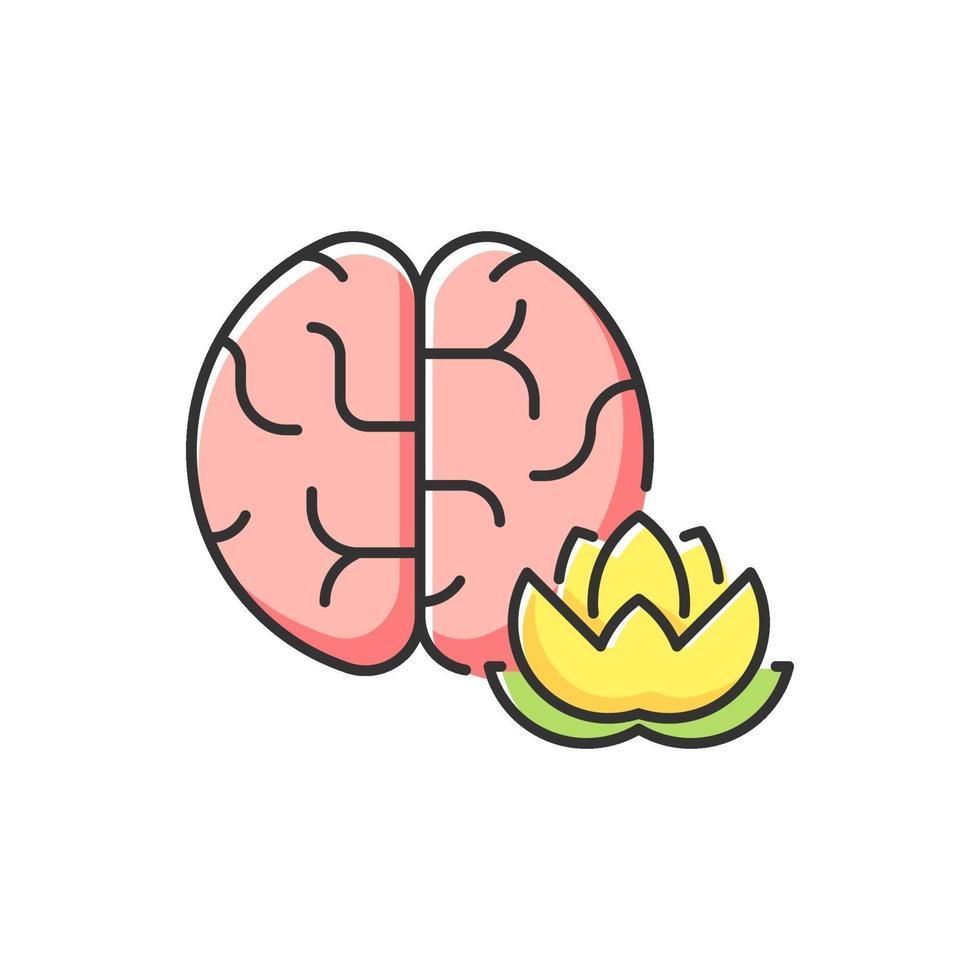 mindfulness rgb kleur pictogram oefenen vector