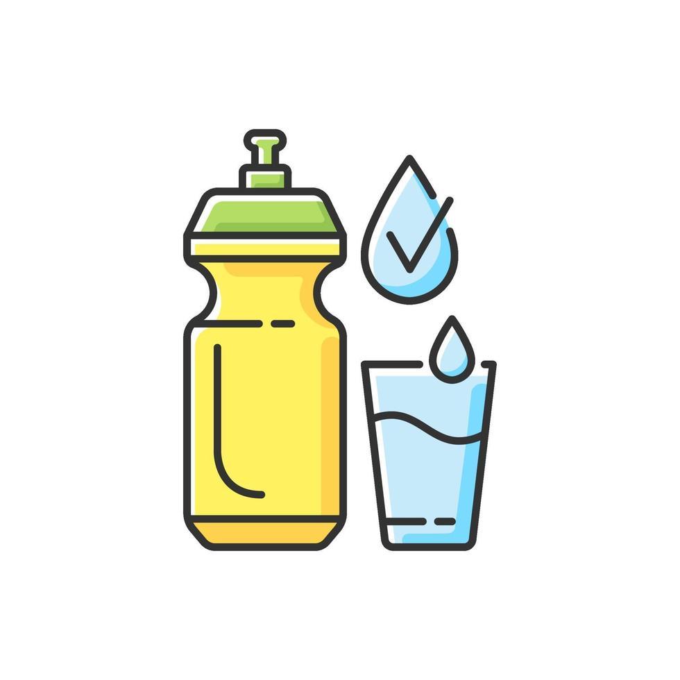 genoeg water drinken RGB-kleur pictogram vector