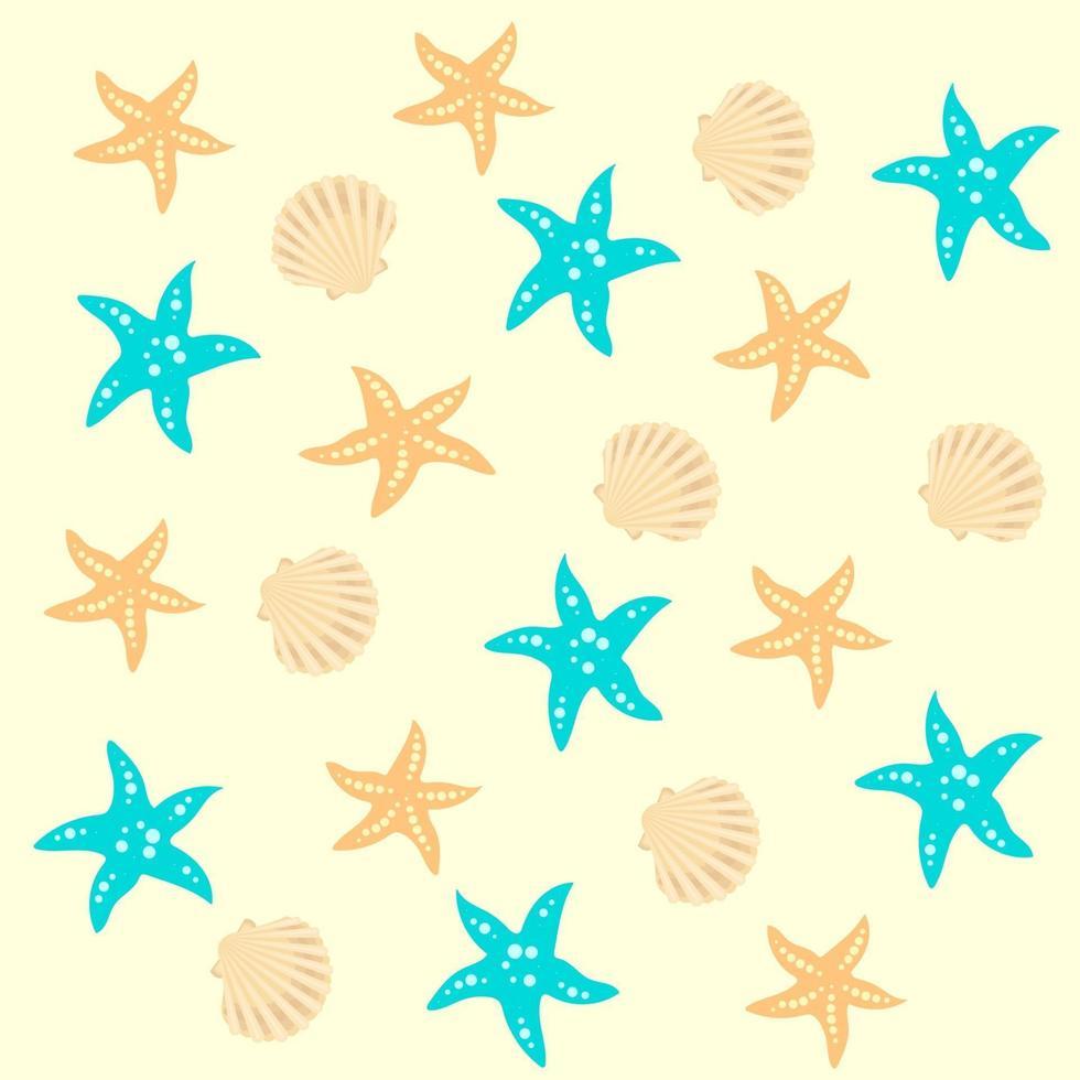 naadloze vector zee patroon voor decoratief ontwerp. geïsoleerde vectorillustratie. gele achtergrond. naadloze vector textuur. vector sjabloon.