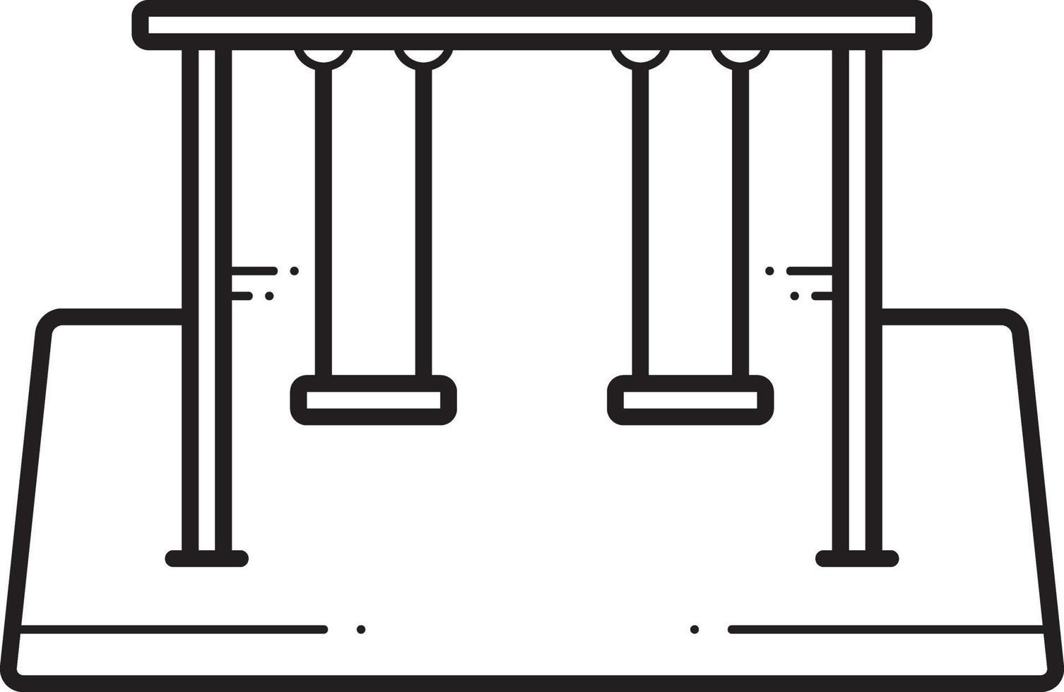 lijnpictogram voor schommels vector