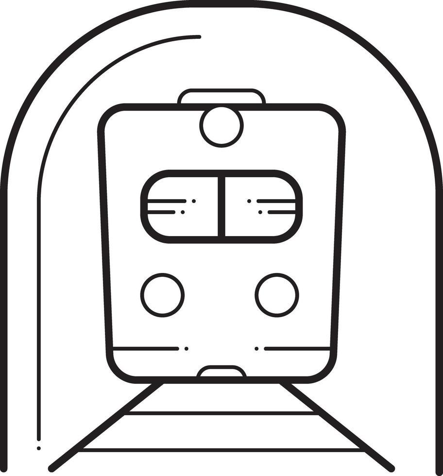 lijnpictogram voor metro vector